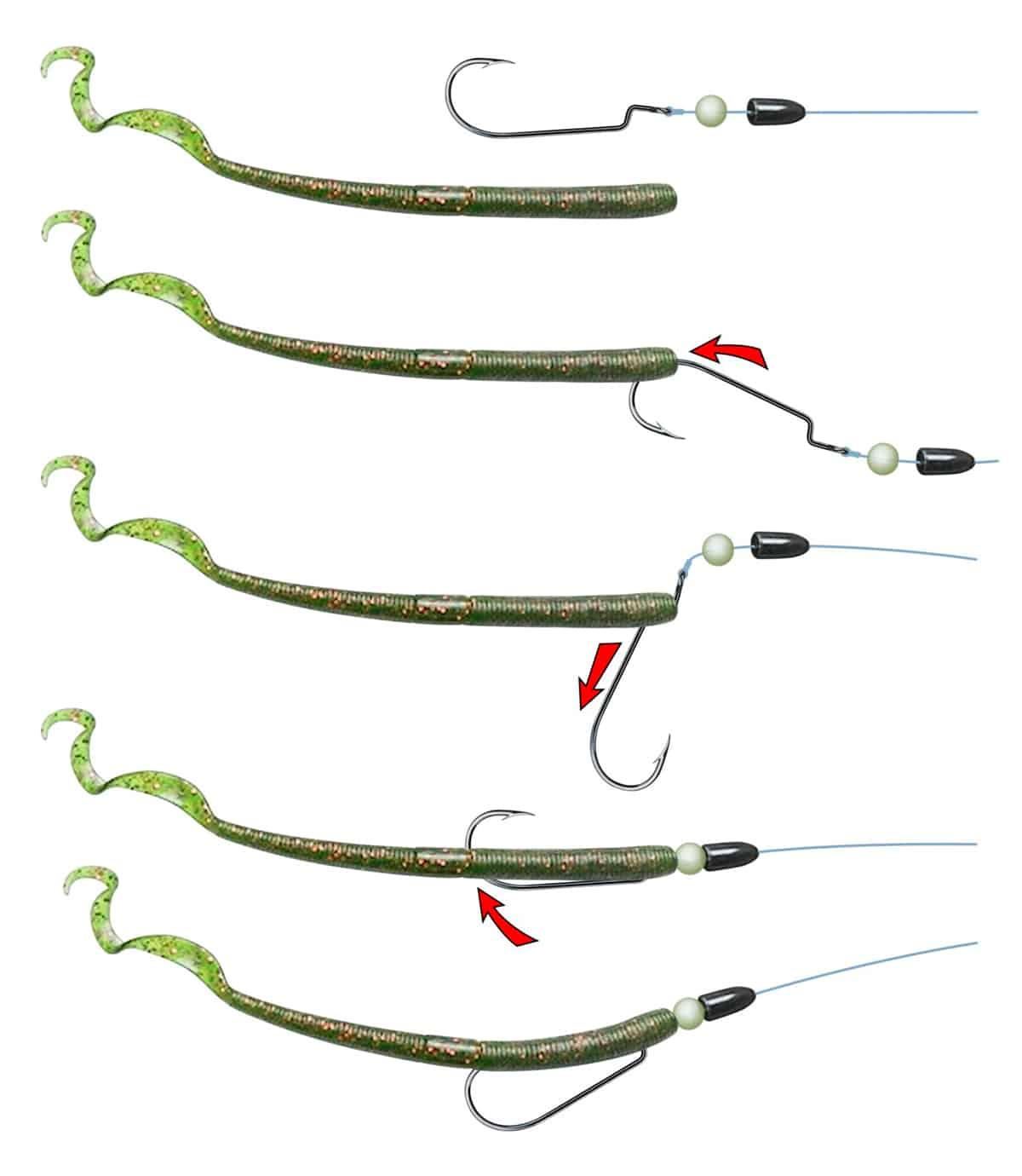 Техасская оснастка для спиннинга: монтаж, изготовление и техника ловли хищной рыбы