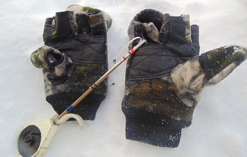 Теплые рукавицы с откидными пальцами