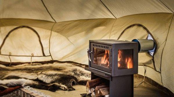 Печка в палатку для зимней рыбалки: лучшие газовые модели, на дровах, солярке