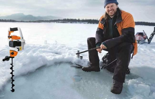 Как выбрать мотобур для зимней рыбалки: параметры и рейтинг бензобуров
