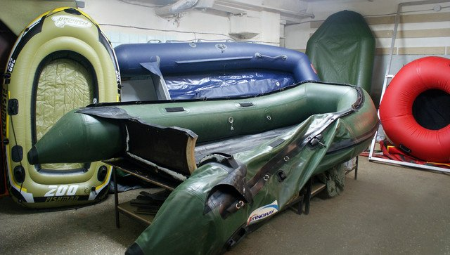 Ремонт лодки ПВХ: слань, транец, клапаны, клеим швы, проколы