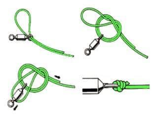 Как надежно вяжется узел паломар для флюорокарбона, плетенки и лески
