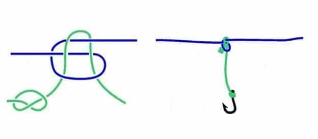 Как правильно привязать леску к леске - рыболовный узел для двух лесок