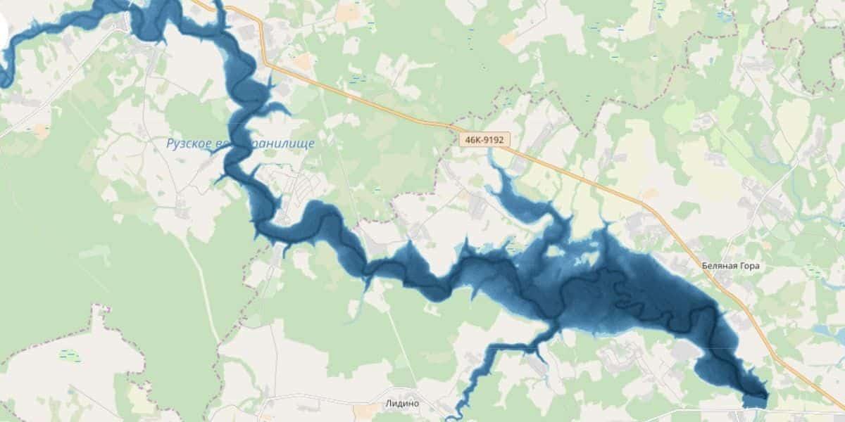 Рузское водохранилище: описание водоема, рыбалка, карта, базы отдыха